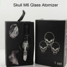 >> Click to Buy << M6 Atomizer Glass Tank Clearomizer 4.0ml Vaporizer Solid Smoke Oil Cartomizer For eGo EVOD Battery Skull Box packing #Affiliate