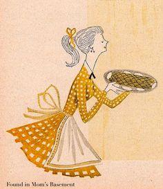 Simple, beautiful 1950s illustration.