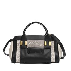 Alice handbag by Chloé. Two tone beige and black lizard printed. #monnierfreres #alice #bag #chloe