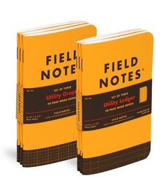"""Field Notes """"Utility"""" features your choice of two often-requested but rarely-available body pages: Engineer Graph or Ledger. Engineer Graph features an 1/8-inch grid with bolder lines each half-inch. It awaits your schematics, assembly drawings, geometry homework, or dungeon maps. The Ledger version, of course, is ultra-handy for mileage logs, parts lists, to-do lists, or any sort of handwritten accounting."""