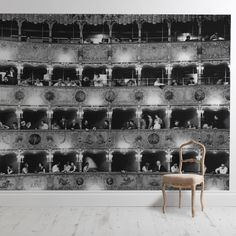 A general view of the boxes at La Fenice, the Venice Opera House. (Photo by Erich Auerbach/Getty Images) Of Wallpaper, Designer Wallpaper, Thing 1, Classic Image, Tile Murals, Life Magazine, Photographic Prints, Black And White Photography, Framed Art Prints