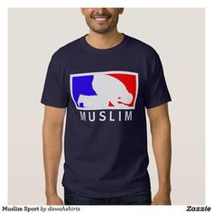 T-shirt Sport musulman Design Kaos, Moslem, Casual Shirts, Tee Shirts, T Shirt Sport, Muslim Men, Islamic Clothing, Printed Shirts, Shirt Style