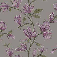 Vacker magnolia från kollektionen Manor House 347052. Klicka för att se fler inspirerande tapeter för ditt hem!
