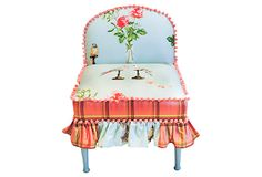 Nina Campbell Bedroom Chair on OneKingsLane.com ($725) Love how this chair is upholstered!