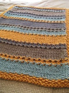 """groovy little baby blanket"" pattern."