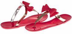 Chatties Ladies Jelly Sandal With Metallic Bow (More Colors and Sizes Available) >> Can't believe it's available, see it now : Jelly Sandals