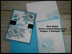 Birthday Blooms Stamp Set Stampin' UP! My May 2016 Swap Cards for my Team Swap using a blue color pallet as inspiration!