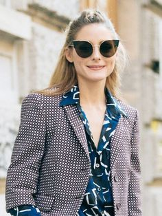 3c7c47726a Trendsetter Olivia Palermo made print-mixing look so easy at Milan Fashion  Week.