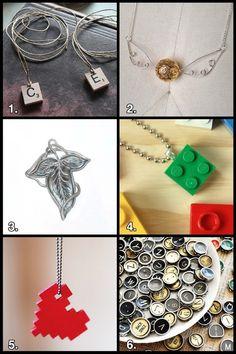 Geek Crafts: Nerd Jewelry Roundup #jewelry #nerd #geek #crafts