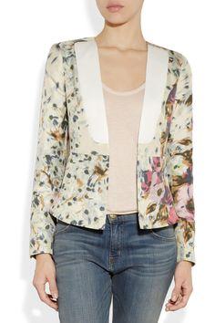 By Malene Birger|Salisca floral-print silk-twill blazer |NET-A-PORTER.COM