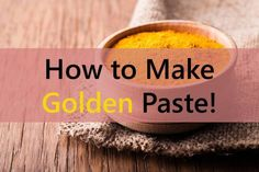 """Turmeric paste is also popularly known as """"GOLDEN PASTE"""" and the reason is obvious why. There are so many recipes available to… Golden Paste Turmeric, Turmeric Paste, Turmeric Health, Turmeric Milk, Holistic Remedies, Natural Home Remedies, Natural Healing, Herbal Remedies, Coconut Oil For Dogs"""