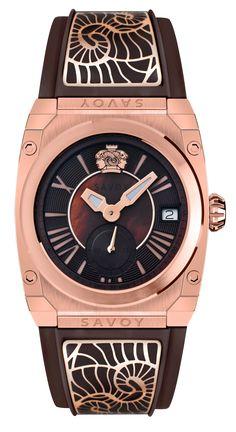Savoy Icon Light 35mm Swiss Made Ladies watch Rose Gold IP – Brown C4404A.11A.RC14  #SavoyIndia