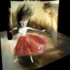 "Saatchi Art Artist Catherine Denvir; Painting, ""Red Skirt"" #art"