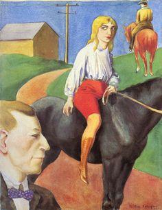 Rudolf Schlichter, Reiterin, 1921.