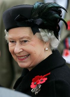Queen Elizabeth II. Love this smile for her highness.
