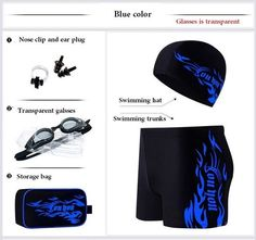 4774401be457 Hot Men Swimming Goggles Swimming Cap Men Swim Eyewear Men Swimwear  Swimsuit Swimming Shorts For Men