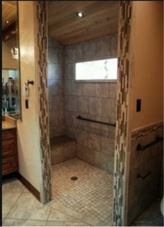 Showers Without Doors Design Ideas, Pictures, Remodel, and Decor - page 3 Handicap Bathroom, Master Bathroom Shower, Small Bathroom, Bathroom Tubs, Bathroom Showers, Bathroom Ideas, Bathroom Cabinets, Bathroom Renovations Perth, Home Remodeling