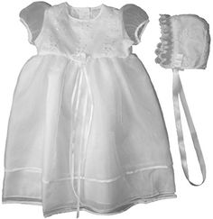 The Childrens Hour Unisex Baby White Sheer Organza With Embroidered Bodice Size 24m ** You can find out more details at the link of the image.