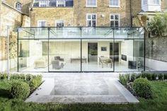 Barnes, London: Culmax Glass Box Extension: modern Conservatory by Maxlight House Design, Glass House, House, Glass Extension, House Styles, Exterior Design, Modern Conservatory, Glass Boxes, House Extension Design