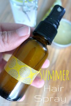 Summer Hair Spray for the pool #chlorine #DIYbeauty