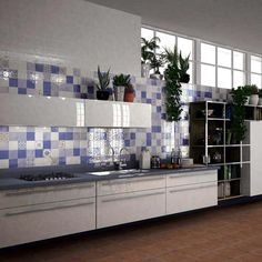 Cornflower Jamilia Patchwork Wall Tiles from Walls and Floors