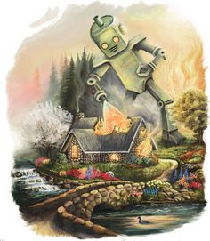 The lost works of Thomas Kinkade