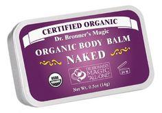 Bronner's Organic Body Balm - Certified to National Organic Standards Dr. Bronner's body/tattoo balms are based on pure organic o Organic Tattoo, Organic Lip Balm, Organic Oils, Sun Dogs, Tattoo Care, Body Soap, Organic Baby, Jojoba Oil, Natural Skin