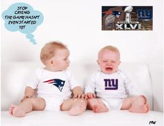 Just in case you were on a remote island last night and didn't watch the game! New York Giants Football, New England Patriots Football, Patriots Fans, Montreal Canadiens, Go Pats, Funny Baby Pictures, Go Big Blue, Love My Boys, Funny Babies