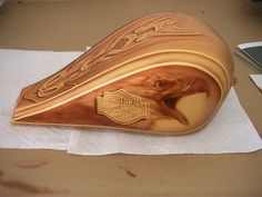 Golden Eagle motorcycle tank