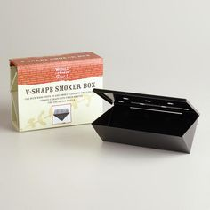 One of my favorite discoveries at WorldMarket.com: Nonstick V-Shaped Smoker Box
