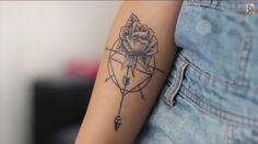 Cute rose/dreamcatcher tattoo