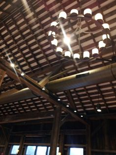 The Barn at Pittsburgh Botanical Garden. Original 1870's roof beams. Soon to be the next hot location for weddings!