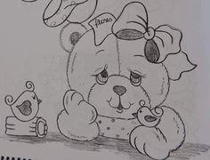 Resultado de imagem para pintura em tecido toalha infantil ursa bailarina