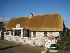 Shell Cottage, Cullenstown, County Wexford. via Flickr Wexford Ireland, Storybook Cottage, Shell Art, Cladding, Sea Shells, Celtic, Irish, Buildings, Around The Worlds