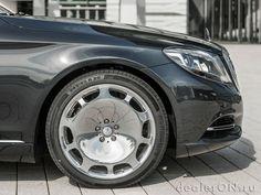 Колесные диски и передняя часть седана Mercedes-Maybach S класса 2016 / Мерседес-Майбах S класса 2016