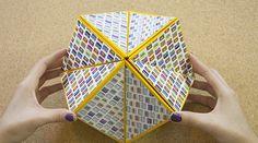 Figura flexahedron Origami espectacular