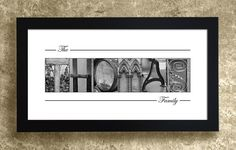 Alphabet Art Photography - Personalized Gift Idea, Custom Last Name Print, Family Name Gift, Christmas Gift