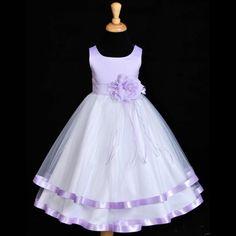 9a4ab8c55e Lilac Flower Girl baby dress ribbon sash pageant by ekidsbridalusa