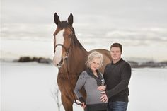 Clint and Kara - maternity photography Maternity with a horse