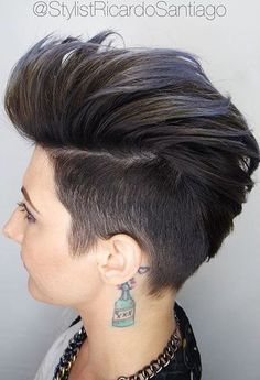 20 Faux Hawk Inspired Hairstyles You Must Try: #5. Black Faux Hawk with Blue Tips