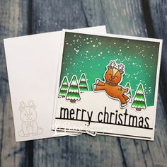 Sunny Studio Stamps: Gleeful Reindeer Customer Card by Petra Meijboom Christmas Cards 2018, Christmas Themes, Christmas Holidays, Friends Valentines Day, Sunnies Studios, Vintage Jars, Happy Words, Shaker Cards, Heart Cards