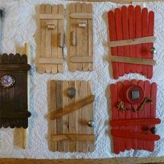 Popsicle stick fairy doors- I couldn't find the project on the website, but the pic is self-explanatory #MiniGarden