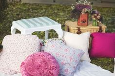 Festive Tea Party Inspiration - do indoors for pj party? or colour scheme inspiration
