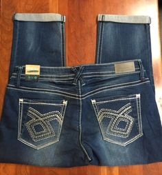 86c563f423b HYDRAULIC Women s Bailey Low Rise Embellished Capris Jeans 15 16 NWT   HYDRAULIC  CapriCropped