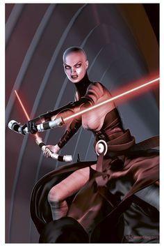 Sith Assassin Asajj Ventress by Strib Star Wars Sith, Clone Wars, Star Trek, Jedi Sith, Sith Lord, Darth Sith, Darth Maul, Female Sith, Jedi Cosplay
