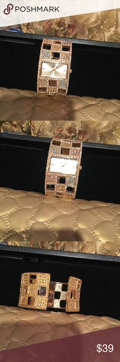 Authentic Victoria Wieck Beautiful bangle watch with rhinestones!!! All sales are final... Accessories Watches