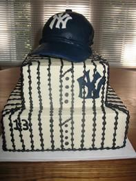 NY Yankees cake--Jonathan might like this for a grooms cake