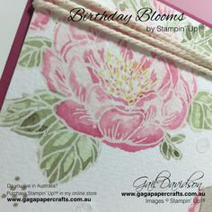 GaGa Papercrafts   Birthday Blooms Dear Friend Card for GDP028   Crazy Crafters Team Blog Highlight   Click on the image to see more from GaGa Papercrafts.  #stampinup #occasionscatalogue #gdp028 #crazycrafters #birthdayblooms #handmadecards
