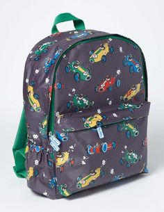 This rucksack has plenty of pockets for you to pack everything you need for a busy day at school – or even for your next adventure (don't forget your treasure map). Water-resistant coated canvas helps keep your stuff dry on drizzly days, while its fun print of a fantastical driving dog will get you chuckling.