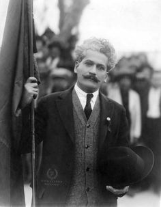 Enrique Flores Magón, holding the Red Flag, Ciudad Juárez, Chihuahua, Mexico, March 4, 1923. | Flickr - Photo Sharing!
